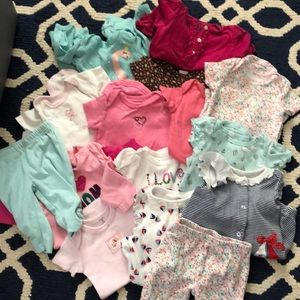Other - Baby girl clothes bundle 3 Months 21 Pieces